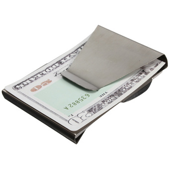 Stainless Steel Money Clip Double Sided Cash Note Credit Card Holder Thin Gift - 3