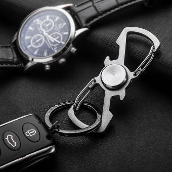 Stainless Steel Spinner Keychain Fist Spinner Key Chain Key HolderBottle Opener - intl .
