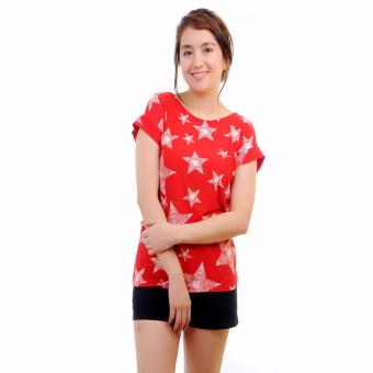 Stamped Zayda Casual Printed Top (Star Print) Price Philippines