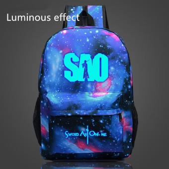 Star Anime Sword Art Online Bags for Teenagers Luffy School BagsChildren SAO Luminous Backpack Boys Girls Shoulder Bags Gifts -intl
