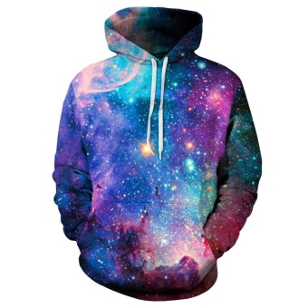 Starry Sweater Long Sleeve Galaxy Pullover Hoodie Sweatshirts forMen & Women (colorful) - intl