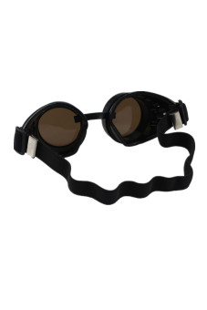 Steampunk Goggles Welding Punk Glasses Cosplay Black