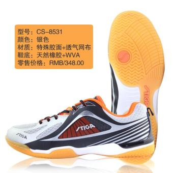 Stiga cs-8511 summer breathable tennis ball athletic shoes table tennis ball shoes (CS-8531 silver orange)