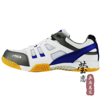 Stiga professional non-slip breathable sports shoes table tennis ball shoes (G1208057 blue + silver)
