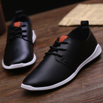 Stylish breathable shoes men's shoes (Black)