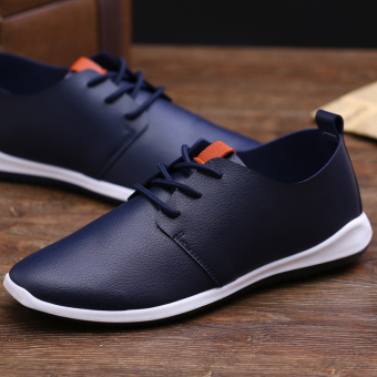 Stylish breathable shoes men's shoes (Blue)