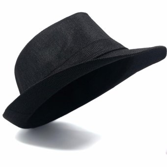 Stylish Fedora Hat Fedora Cap Trilby Hat Sun Protection Cap LeatherFinish Unisex Price Philippines