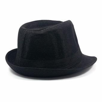 Stylish Fedora Hat Fedora Cap Trilby Hat Sun Protection Cap LeatherFinish Unisex - 3
