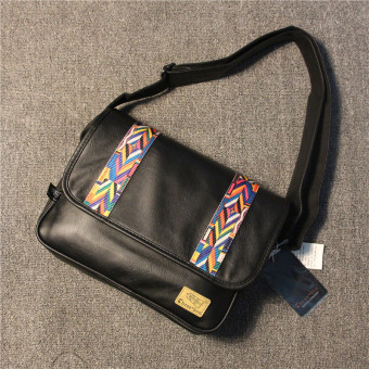 Stylish guy's Japan and South Korea New style shoulder bag (Black)