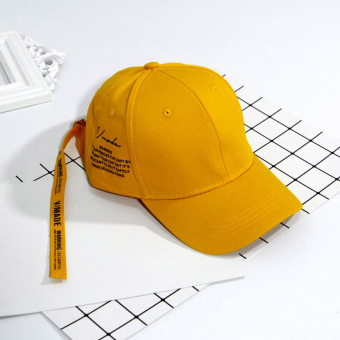 Stylish guy's Korean-style Female Summer long lettered baseball cap hat (Orange)