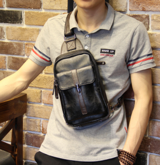 Stylish summer backpack leather casual bag