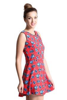 Sugar Clothing Claudia 2 Tunic Dress (Multicolor/Rose) - picture 2