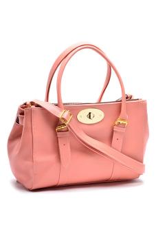 Sugar Rohelle Top-Handle Bag (Peach)
