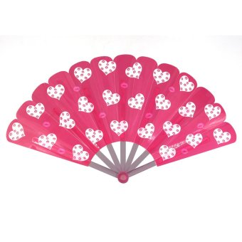 Summer Collection Foldable Hand Fan-Heart (Pink)