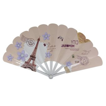 Summer Collection Foldable Hand Fan-Vintage (peach)