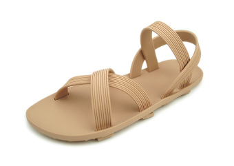 Summer Flat plastic sandals (Beige)