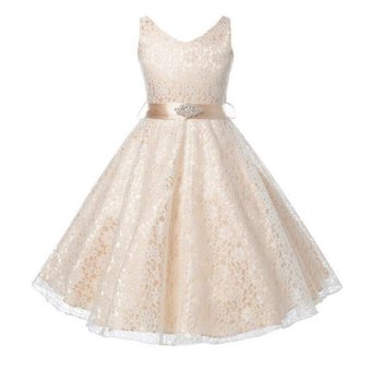 Summer Flower Girl Dress Top Baby Princess Dresses for Girls Wedding Party Vestidos Infantis Kid Girls Clothes - intl - 5