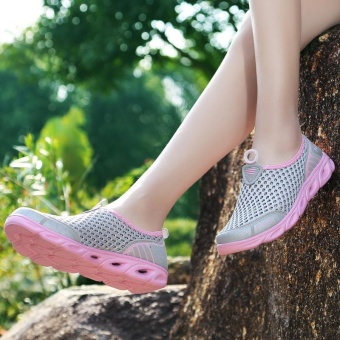 Summer Lover Outdoor Quick Dry Upsteam Wading Slip-on Hiking Shoes- intl