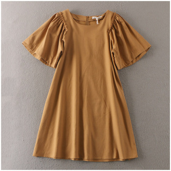 Summer round neck medium-length dress (Casual Dress)
