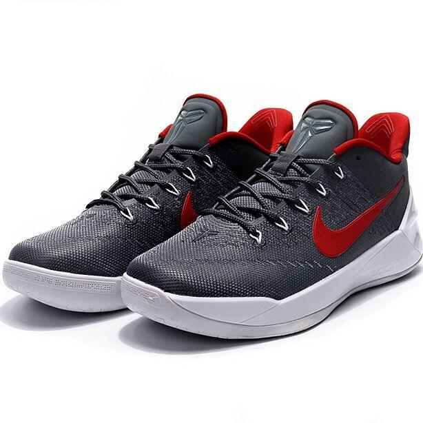 Summer Sports Sneakers For Zoom Kobe 12th AD Basketball Shoes Men(Grey/Red) - intl