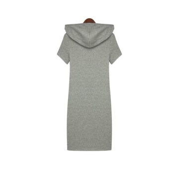 Summer Women's Fashion Casual Print Cotton Loose Dresses - picture 2