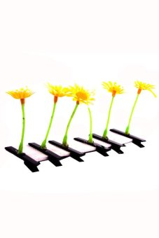 Sun Flower Hair Clip Set of 6 (Yellow)