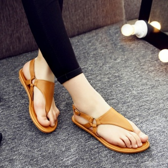 Sunny color2017 casual women's non-slip flat heel gladiator sandals flip-flop flat sandals (QSL-P-001 casual)