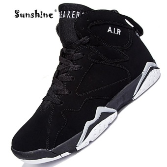 Sunshine Original New Arrivals Men Basketball Shoes 2017 Male AnkleBoots Anti-slip Outdoor Sport Sneakers - Black - intl