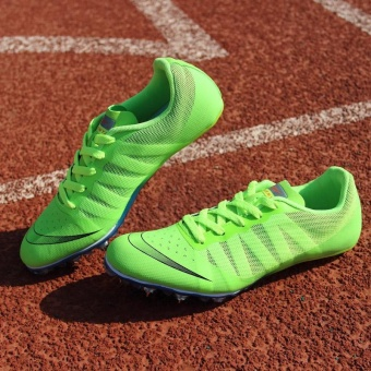 Sunshine Track Sports Running Shoes Spike Spikes Athletics TrainingShoes Lelaki Berjalan Kasut -Fluorescent Green - intl - 3