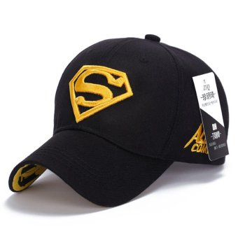 Superman Baseball Cap Hats for Men Women Adjustable S Logo LetterCasual Outdoor Snapback Hat(yellow&black) Price Philippines