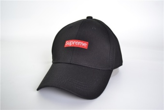 Supreme Embroidery Solid Color Baseball Cap Hats For Men Women Casual Hip Hop Caps(Black) - intl