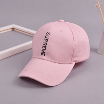 Supreme Embroidery Solid Color Baseball Cap Hats For Men WomenCasual Hip Hop Caps(Pink) - intl