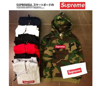 Supreme Hoodies & Sweatshirts Jacket Coat Embroidery Logo Hooded Multi-color Camouflage Sweater Hip Hop(ArmyGreen) - intl - 2