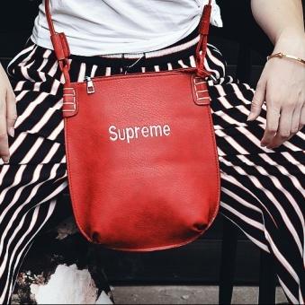 Supreme Single shoulder shoulder bag embroidered classic file bag cosmetic bag handbag tide card bag - 2