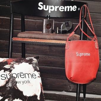Supreme Single shoulder shoulder bag embroidered classic file bag cosmetic bag handbag tide card bag - 5