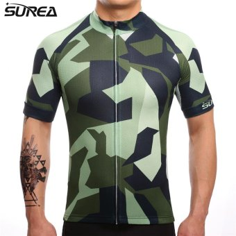 SUREA 2017 New Fabric Summer Men Quick Dry Cycling Jersey MtbBreathable Bicycle Clothing Short Sleeve Cool Bike Wear ClothesDS-07 - intl