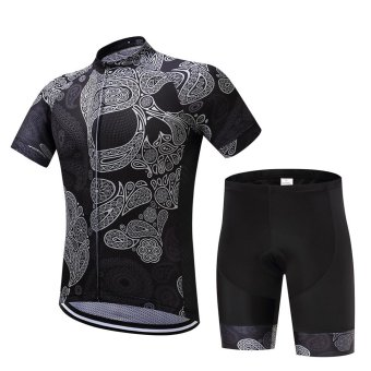 SUREA 2017 New Fabric Summer Men Quick Dry Cycling Jersey/Shorts Set Mtb Breathable Bicycle Clothing Short Sleeve Cool Bike Clothes DT-14 - intl