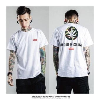 Surpme Couple T-shirt printing cotton Short sleeves Supreme FashionCasual Short sleeves - 2