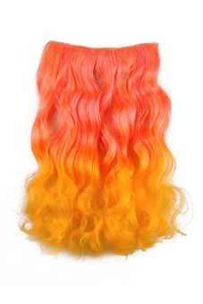 Synthetic Fiber Curly Hair Extension (Orange)