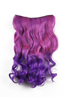 Synthetic Fiber Curly Hair Extension (Purple)