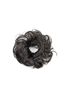 Synthetic Fiber Hair Bun Scrunchie (Natural Black)