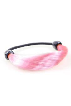 Synthetic Fiber Hair Rope Holder (Light Pink)