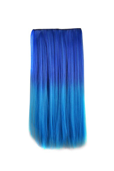 Synthetic Fiber Straight Hair Extension (Blue)