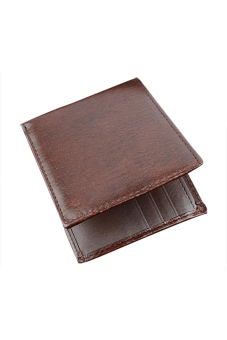 Synthetic Leather Wallet (Brown)