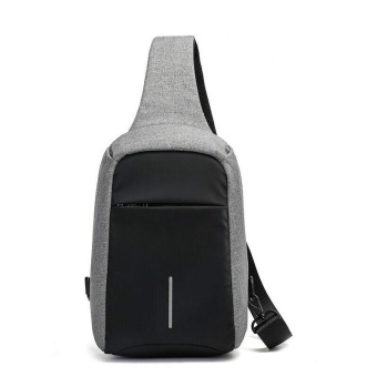 Sywell Casual Anti-theft Chest Bag Waterproof Crossbody Shoulder Bag for Travel - Grey - intl