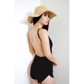 T25 Rebel Backless Sexy Romper Short (Black)