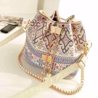 Talita T00270 Trendy Korean Bucket Bag (White) Price Philippines