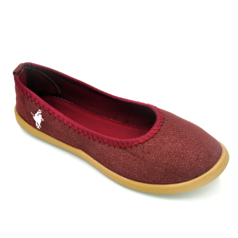 Tanggo 2016-16 Women's Flat Shoes Casual Doll Shoes (Maroon)
