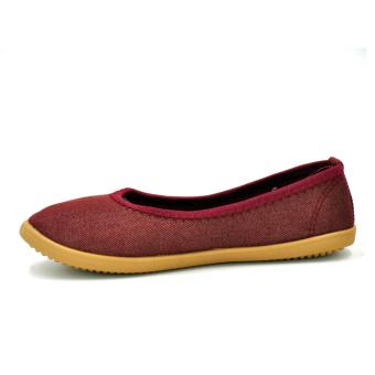 Tanggo 2016-16 Women's Flat Shoes Casual Doll Shoes (Maroon) - 2