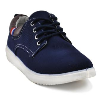 Tanggo 813 Fashion Sneakers Men's Casual Rubber Shoes (Navy Blue)